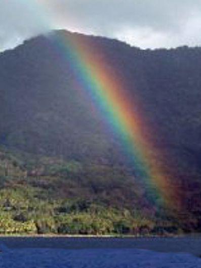 Rainbow and Vanuatu Island